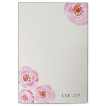 Pink Rose Print Post-it Notes