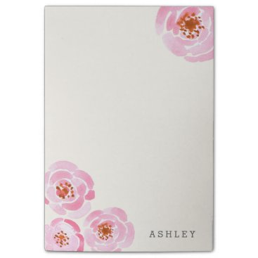 Beach Themed Pink Rose Print Post-It Post-it Notes