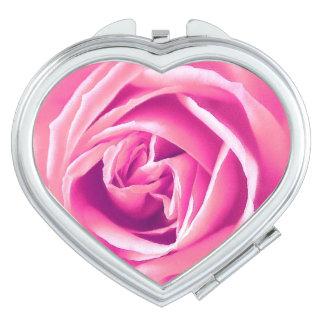 Pink rose print vanity mirror