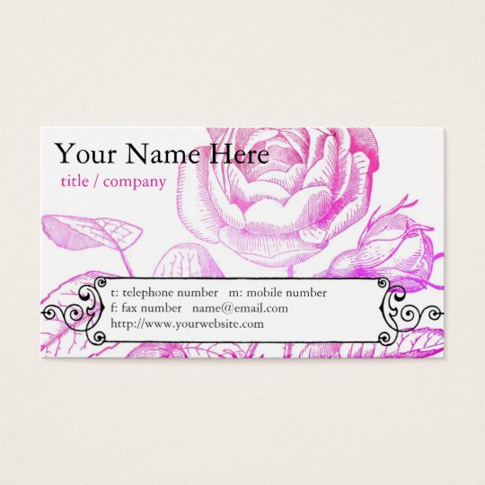 Pink Rose Profile Card