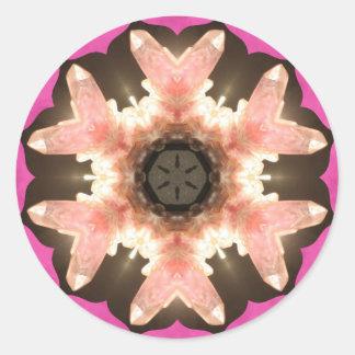 Pink Rose Quartz Pops! Round Sticker