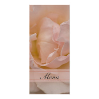 Pink Rose Quinceañera Menu Rack Card Design