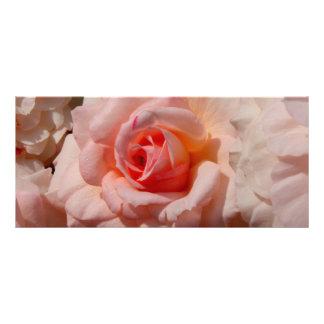 pink rose rack card template
