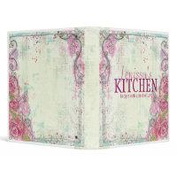 Pink Rose Recipe Binder binder