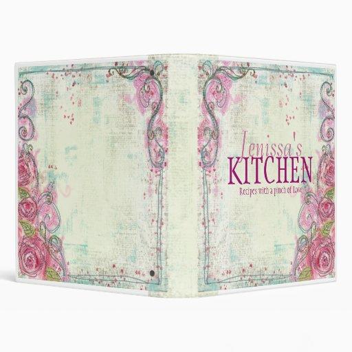 Pink Rose Recipe Binder