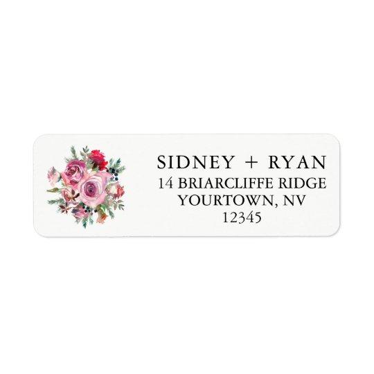 pink rose return address labels wedding invitation zazzle com