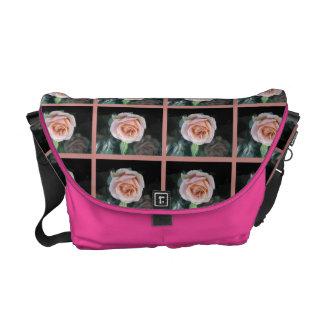 Pink Rose Rickshaw Messenger Bag
