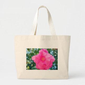 PINK ROSE ROCK1536 BEAUTY NATURE FLOWERS PHOTOGRAP CANVAS BAG