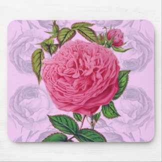 Pink Rose Romance Mouse Pad