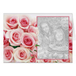 Pink Rose Romance - Template Greeting Card