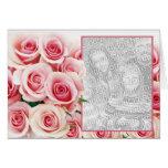 Pink Rose Romance - Template Greeting Card