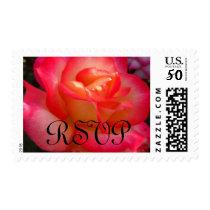 Pink Rose RSVP Postage