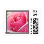 Pink Rose RSVP Stamp