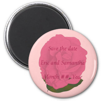 Pink Rose, Save the date wedding magnets