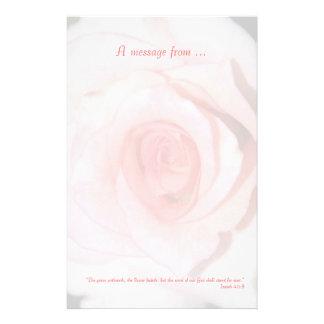 Pink Rose Scripture Stationery