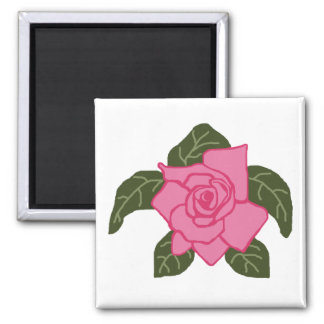Pink rose sea turtle magnet