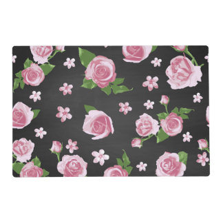 Pink Rose Shabby Chic Floral Flower Pattern Placemat