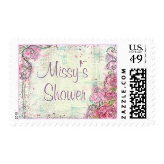 Pink Rose Shower Stamp