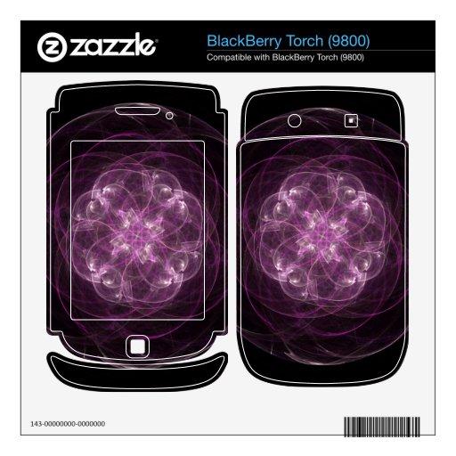 Pink Rose BlackBerry Torch Decals
