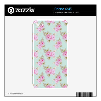 Pink Rose Skin iPhone 4S Decals