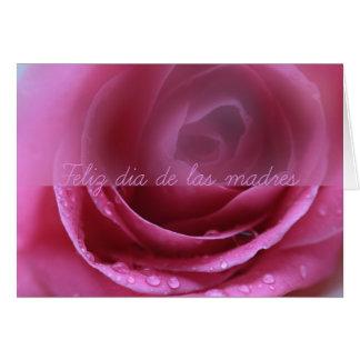 pink rose soft dia de las madres greeting card