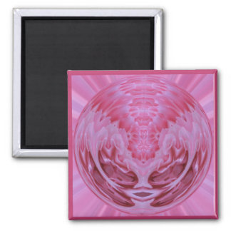 Pink Rose Sphere Refrigerator Magnet
