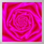 Pink Rose Spiral Poster