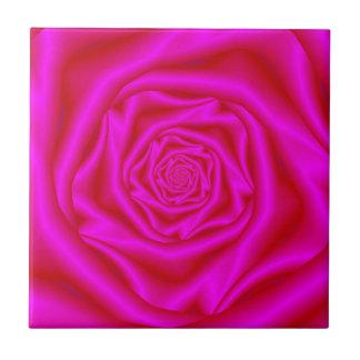 Pink Rose Spiral tile