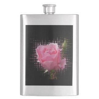 pink rose splash flask