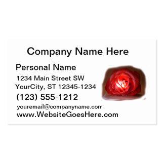 Pink Rose Spotlighted Iimage Business Card Templates