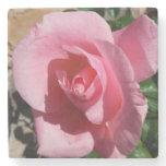 Pink Rose Stone Coaster