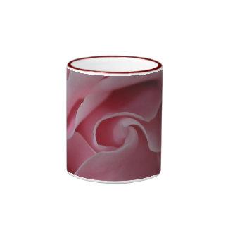 Pink Rose Swirl Coffee Mugs