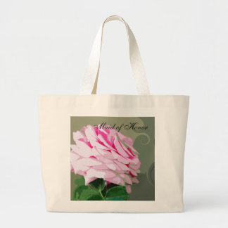 Pink Rose Swirls Wedding Maid of Honor Bags