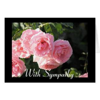 Pink Rose Sympathy Card