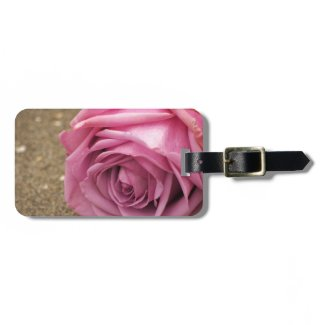 Pink Rose Tag For Luggage