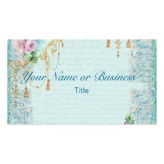 Pink Rose & Tassels Business Card