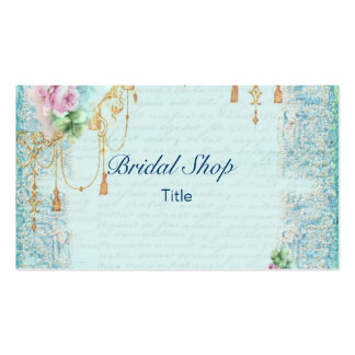 Pink Rose & Tassels Lace Feminine Victorian Business Card