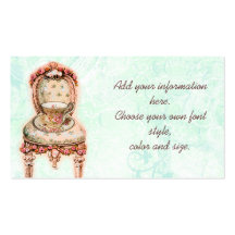 Pink Rose Teacup and Victorian Chair Double-Sided Standard Business Cards (Pack Of 100)