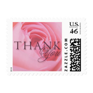 Pink Rose Thank You Small Postage