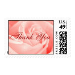 Pink Rose Thank You Stamps