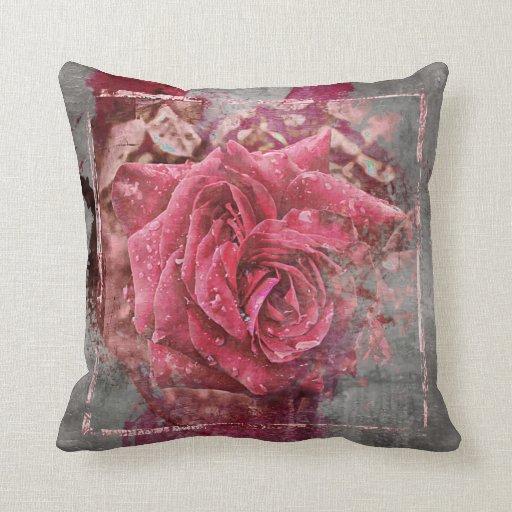 Pink Rose Throw Pillow Zazzle