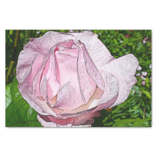 "Pink Rose Tissue Paper 10"" X 15"" Tissue Paper"