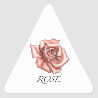 Pink Rose Triangle Sticker