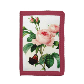Pink Rose Trifold Wallets
