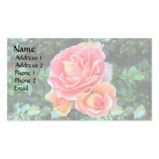 Pink Rose Trio Double-Sided Standard Business Cards (Pack Of 100)