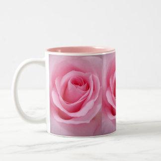 Pink Rose Two-Tone Coffee Mug