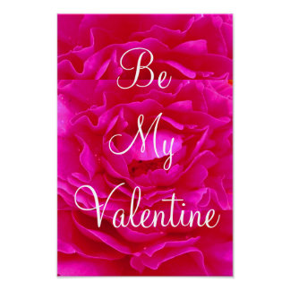 Pink Rose Valentine Poster - Customizable