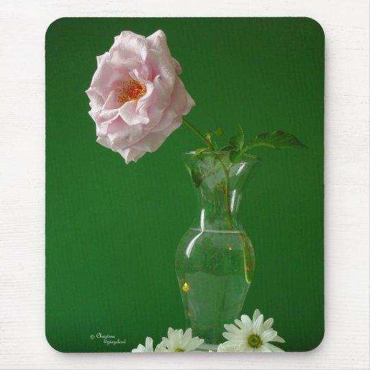 Pink Rose Vas Mousepad