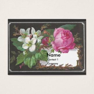 Pink Rose Victorian Trade Card