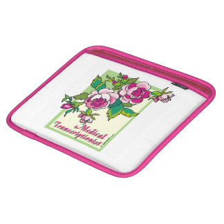 Pink Rose Vine MT Sleeves For iPads